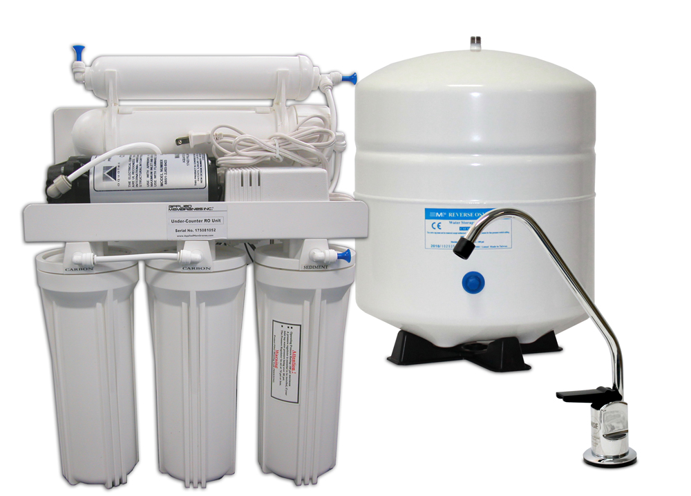 5 Stages Reverse Osmosis with booster pump