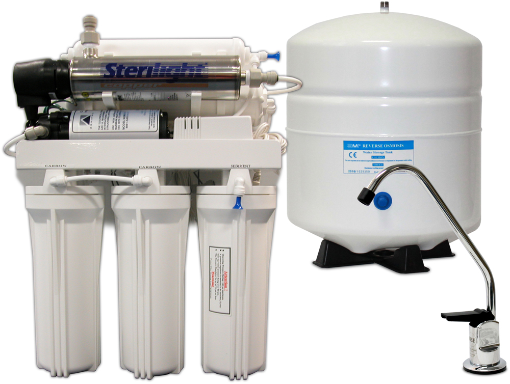 6 STAGE HOME RO WITH UV DISINFECTION AND BOOSTER PUMP WATER FILTRATION SYSTEMS